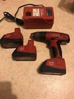 😍 hilti sf 121 a perceuse visseuse sans fil + 3 batteries et chargeur
