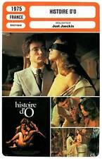 FICHE CINEMA : HISTOIRE D'O - Cléry,Kier,Jaeckin 1975 The Story of O