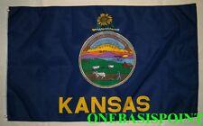 3'x5' Kansas State Flag USA Seal Sunflower Outdoor Indoor Banner Large 3X5