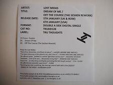 LOST MIDAS : DREAM OF ME / OFF THE COURSE [ CD PROMO ] ~ PORT GRATUIT