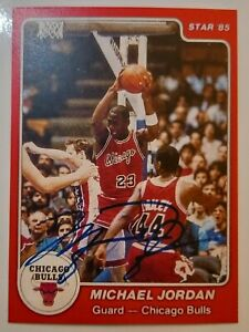 MICHAEL JORDAN Star Reprint 1984 Rookie Auto Autograph Basketball Card