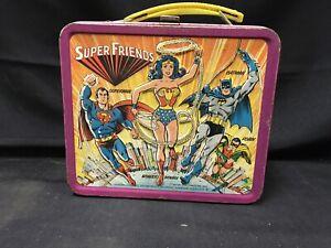 vintage super friends tin lunchbox