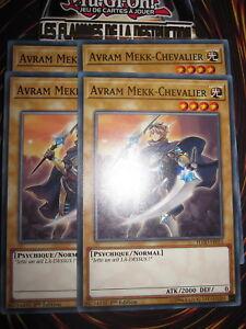 YU-GI-OH! COM PLAYSET (LOT DE 4) AVRAM MEKK-CHEVALIER FLOD-FR016 NEUF ED 1 FR