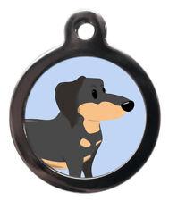 PS Pet Tag, Funny Dachshund Dog Engraved Free Lifetime Guarantee! Sausage Dog ID