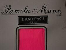VINTAGE con Pamela Mann Collant London Rosa Shocking Calze Taglia Unica Nuovo
