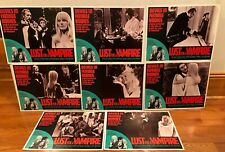 Lust for a Vampire Lobby Card Set-Complete Set of 8-1971- Near Mint to Mint