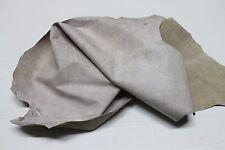 Italian strong Goatskin leather skin skins hide hides VINTAGE BEIGE 6sqf #A2031