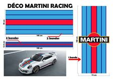"Le Mans Martini Racing style Stripe and Logo ""universel*"" Sticker bandes"