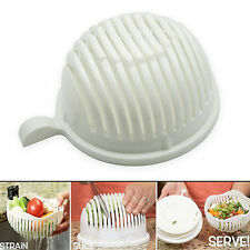 Easy to Make Salad in 60 Seconds - Salad Maker Cutter Bowl Original Salad Tool