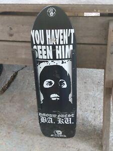 Skull skates  BAKU Barrier Kult deck Limited Run SEEN HIM heroin skateboard deer