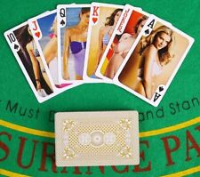54 Erotic Woman Bikini Hot Girls Playing Cards 54 Poker Deck Plastic Coated NEW