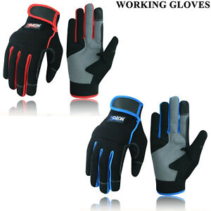 Work Gloves Hand Protection Tradesman Farmer's Gardening DIY Builders Mechanics