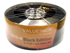 25 Traxdata Value pack Black Edition DVD-R 8x blank Discs 4.7GB Ritek Dye G05