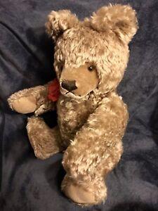 "Vintage 26"" Large Steiff Original Teddy Bear Ear Button Mohair Made In Germany"