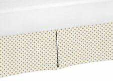 Gold Polka Dot Baby Crib Skirt Or Dust Ruffle For Sweet Jojo Amelia Bedding Set