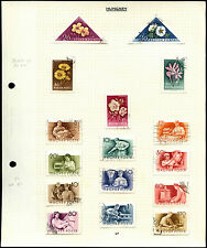 Hungary Album Page Of Stamps #V4506