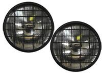 """6"""" Round Roadrunner Driving Spot Lamps Lights Pair Stoneguards Rally 4x4 Offroad"""
