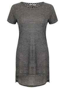 Ladies Womens  Linen Spring Summer T tee Shirt Beach Blouse Top New Striped NEW