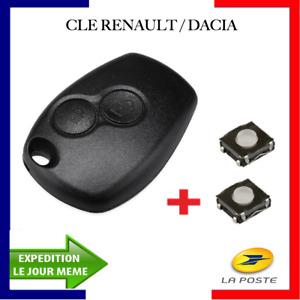 Plip Coque Clé Compatible Dacia Sandero Duster Lodgy Logan Dokker + 2 Switchs