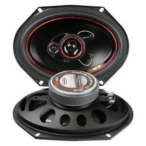 "Audiopipe CSL6803R 6x8"" 300 Watt Redline 3 Way Speakers (pair)"
