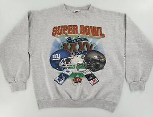 Vintage Super Bowl XXXV NY Giants Baltimore Ravens Sweater Size Small Unisex