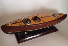 Wooden Classic Boat Model. Woody With Brass Details. Ready To Display!