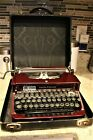Vtg+1931+Smith+Corona+Portable+Manual+Typewriter+Burgundy+Color+Model+S-C+%2B+Case
