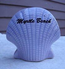 Vintage Purple Scallop Shell Toothpick Holder,Myrtle Beach SC,ceramic,1980s-cute