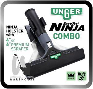 Unger ErgoTec NINJA Combo Holster with Scraper Window Cleaning Remove Glue etc