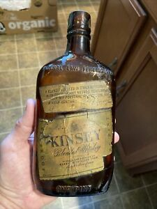 Rare Early Kinsey Blended Whiskey Paper Label Bottle Linfield Pennsylvania PA