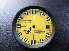 NEW MODIFIED YELLOW DIAL W/ BLACK CHAPTER RING FITS SEIKO 7002-7001 DIVERS WATCH