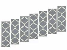 Stair Tread Ottohome Collection Imported Polypropylene Suitable Pack of 7 Gray