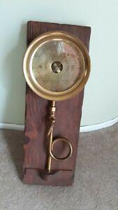 Hewes & Phillips -  Antique Brass Steam Gauge, Newark, NJ - Excellent
