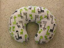 Giraffe  minky dot backed EMIJANE Nursing pillow cover - fits Boppy
