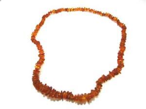 Lange Halskette mit schmalen Bernsteinen    AS3999