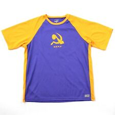 Vc Serf Frisbee Golf Jersey Adult Medium M Purple Yellow Athletic Tee Active Top