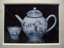 """James J Allen unterzeichnet öl auf brett """"selten Gemälde von Lowestoft China"""""""