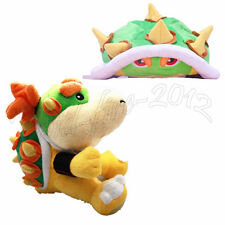 2pcs Super Mario Bros Plush Doll Koopa Bowser Jr. Toy & Hat Cosplay Costume Cute