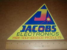 vintage Drag racing decal sticker Jacobs Electronics High Tech Ignition systems