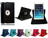 """Neuf 360° Rotatif Cuir Clapet Tablette Étui Pour Apple IPAD Air 5 6 (9.7 """")"""