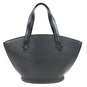 100% Authentic Louis Vuitton Epi Saint Jacques PM Black M52272 [Used] {09-352B}
