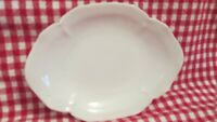 "R S Germany White Bowl Dish 6"" x 4 1/2"" Porcelain China Scalloped Edge"