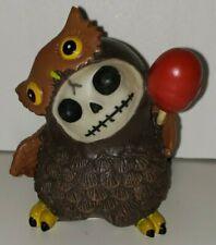 Furrybones Skeleton Animal Hootie the Brown Owl Figure Statue Skull Lolly Pop