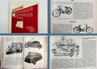 Deutsche Motorräder Motorroller Mopeds 1954 Fahrrad- u Motorradindustrie