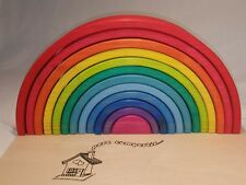 Arco Iris madera 38 cm  pedagógico Waldorf artesano con caja personalizable