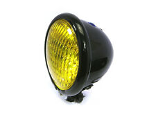 Retro Headlight & Yellow Lens for Harley Davidson Sportster & Dyna Project Bike