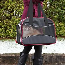 Palo De Rosa Negro Pequeño Perro Gato Mascota Portador Bolso Bolsa de viaje