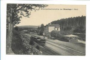 XX14105/ Brunnenbachsmühle bei Braunlage Harzbahn Bahnhof Eisenbahn AK 1916