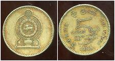SRI LANKA   5 rupees 1986  ( bis )
