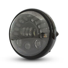 "Motorbike Projector LED Headlight 7.7"" with Indicators for Retro Project Bike"